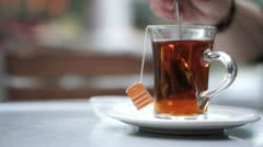Hot Tea Stock Footage