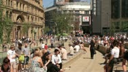 Stock Video Footage of exchange square, manchester, england