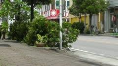 Rural Town Traffic in Okinawa Islands 15 Stock Footage