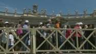 Pilgrims leave Pope's mass at St Peters (1) Stock Footage