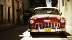 Classic car havana cuba Stock Footage
