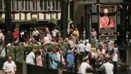 Old wellington inn, manchester, england Stock Footage