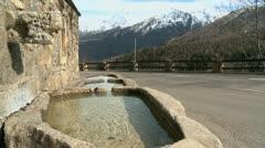 Fountain Pyrenees Stock Footage