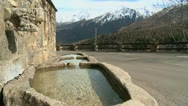 Fountain Pyrenees Stock Footage