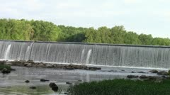 Water pours over Dam #5 on the Potomac - stock footage