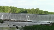 Water pours over Dam #5 on the Potomac Stock Footage