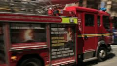fire engine responding to emergency - stock footage