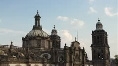 Mexico city zocalo cathedral 4k Stock Footage