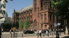 John rylands university library, deansgate, manchester Stock Footage