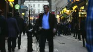 Crowded street in London Stock Footage