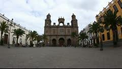 Cathedral Santa Ana in Las Palmas de Gran Canaria HD Stock Footage