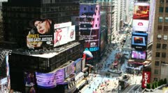 NEW YORK CITY - MAY 20: Timelapse of Times Square traffic at daytime Stock Footage