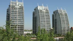 Modern apartments, salford quays, england Stock Footage