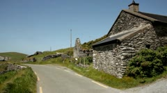 Ancient hut Irish.Kerry.clip.29 - stock footage