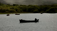 Boat on a lake Kerry.clip.06 Stock Footage