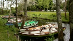Boats River Kerry.clip.01 Stock Footage