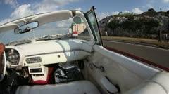 Classic car ride havana cuba Stock Footage