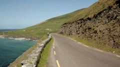 Lonesome street Isrish coast.Kerry.clip.24 Stock Footage