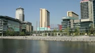 Mediacity, salford quays, manchester, england Stock Footage