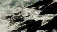 Turbulent waves.coast.Kerry.clip.57 Stock Footage