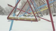 Stock Video Footage of Swing seat during winter _3