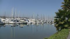 San Diego California Shelter Island Marina Stock Footage