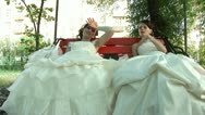 2 tired brides Stock Footage