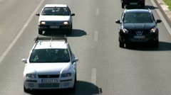 Highway, cars approach 2 Stock Footage