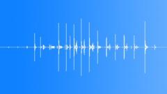 Plastic scoop spoon - sound effect