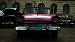 Classic car collection havana cuba Stock Footage