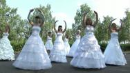 "Stock Video Footage of Brides are dancing ""dolls dance"""