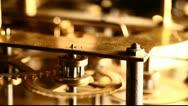 Clock mechanism Stock Footage