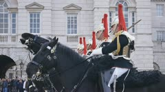 HorseGuards03 Stock Footage
