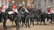 HorseGuards04 Stock Footage