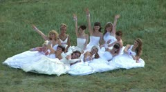 Many brides 01 Stock Footage