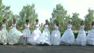 Stock Video Footage of Brides are dancing folk-dance