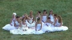Many brides Stock Footage