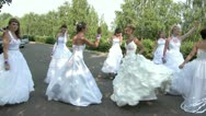 Stock Video Footage of Brides dance