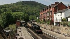 Llangollen steam train Stock Footage