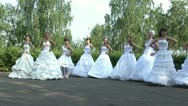 Stock Video Footage of Brides are dancing folk dance