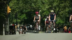 Central Park New York City Bicycle Bike Ride Stock Footage