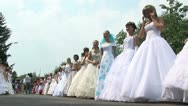 Stock Video Footage of Parade of brides