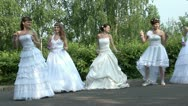Stock Video Footage of Brides are dancing rock-n-roll
