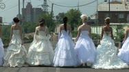 Brides are turning around Stock Footage