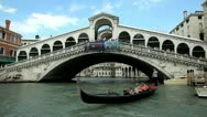 Venice Rialto Bridge Stock Footage