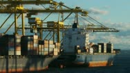 Stock Video Footage of container ships