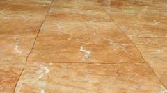 Water on marble floor Stock Footage