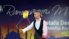 Diabolo Juggling Stock Footage