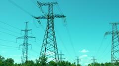 Transmission Line 2 - stock footage