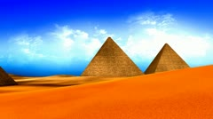 Egyptian pyramids with vivid color. - stock footage